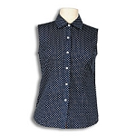 Sleeveless Polka Dot Poplin