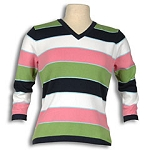 Izod Stripe V-Neck Sweater