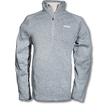 Ladies Devon & Jones Full Zip Sweater-Grey