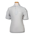 Greg Norman - Heathered Mesh Polo-White